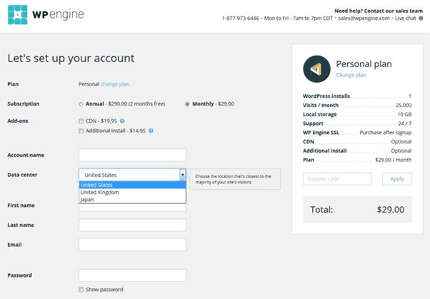 WP Engine - Registration