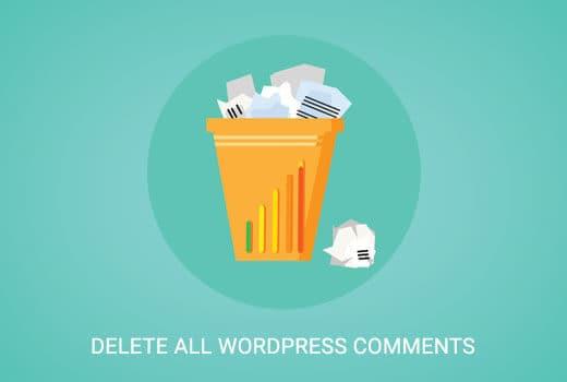 xoá bình luận wordpress
