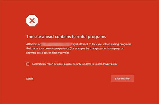 Site Ahead Contains Harmful Programs