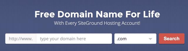 Siteground - tên miền miễn phí trọn đời