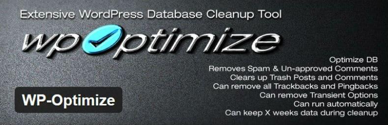 wp optimize tối ưu hoá tốc độ database