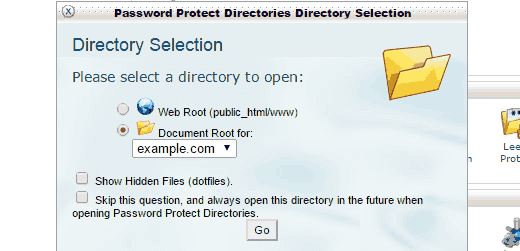 choose-document-root