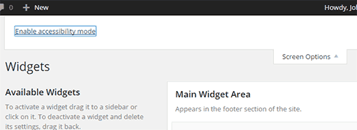 màn hình widget