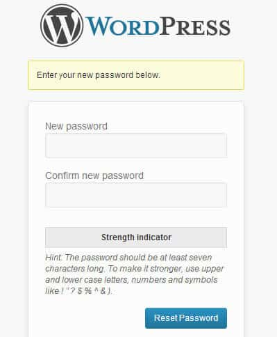 enter-new-password-wordpress