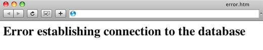 lỗi kết nối cơ sở dữ liệu cũng là một dấu hiệu bạn nên thay đổi hosting