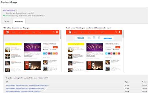 Làm thế nào để cho Google truy cập vào tập tin CSS và JS của bạn.