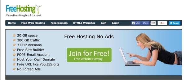 FreeHostingNoAds cung cấp hosting miễn phí