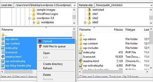 ftpupload-wordpress