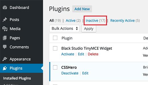 inactiveplugins