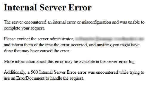 Internal Server Errors cũng là dấu hiệu bạn nên thay đổi hosting