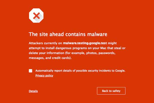 Kiểm tra các mã độc hại cho trang web của bạn.