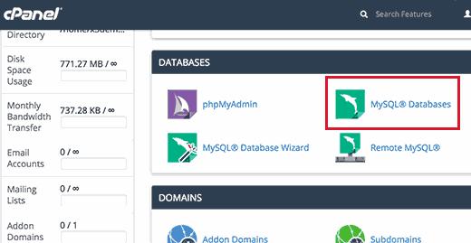 Chuẩn bị để khôi phục lại các sao lưu cơ sở dữ liệu WordPress