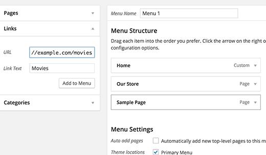 tùy chỉnh Custom Post Type trong menu navigation