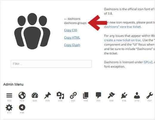Thêm các icon bằng việc sử dụng Plugin Custom Post Type UI