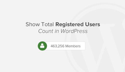 hiển thị số người đăng ký