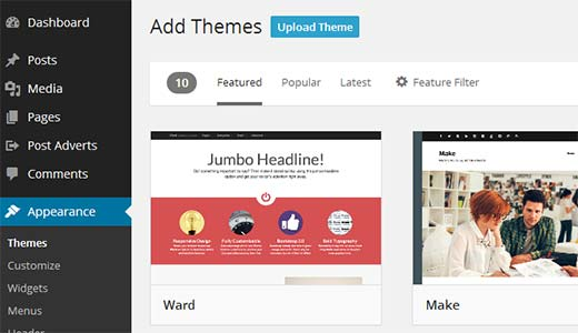 upload-theme-wordpress
