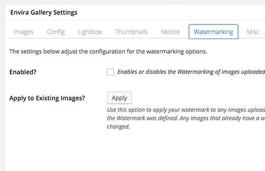 watermarking-enviragallery
