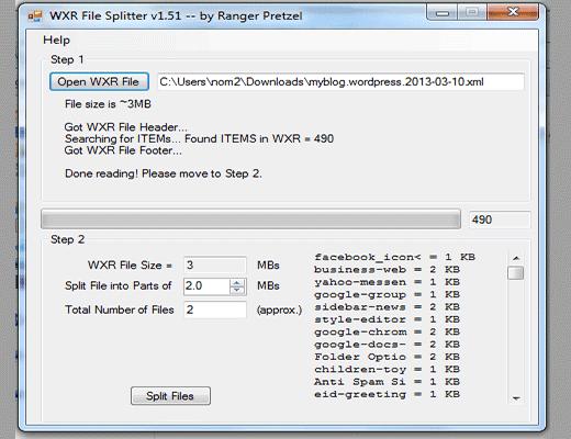wordpress-xml-splitter