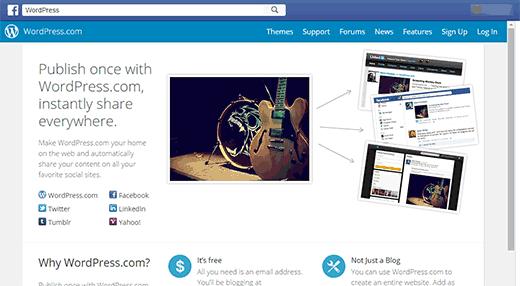 Có phải Jetpack đang quảng bá cho WordPress.com