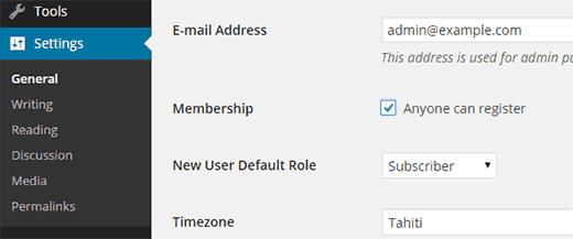 đăng ký tài khoản wordpress