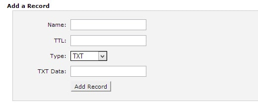 txt-record-cpanel