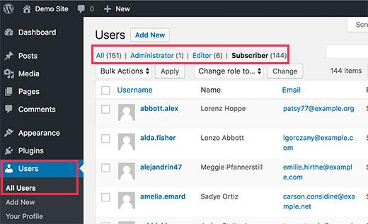 userspage