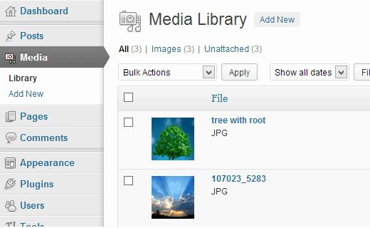 wordpress-media-settings