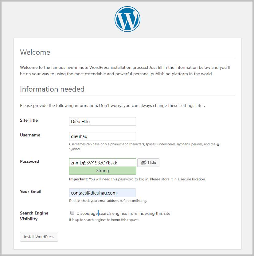 wordpress-site-infomation