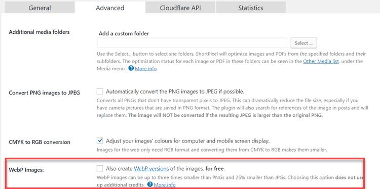 Short-pixel-support-webp-image