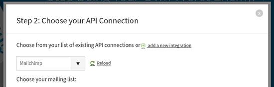 Chose API connnection