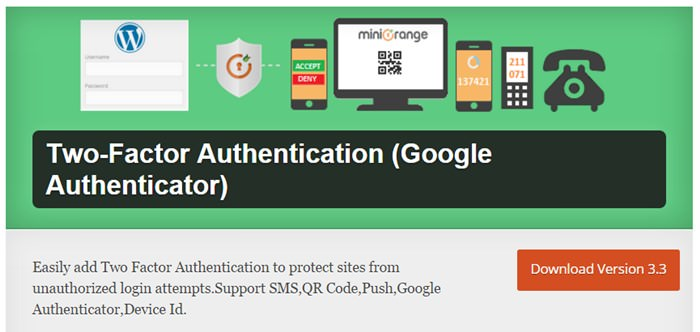 Two - Factor Authentication (by miniOrange)