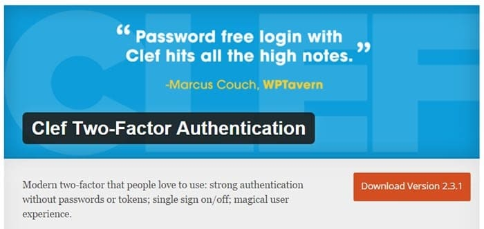 Clef Hai Factor Authentication