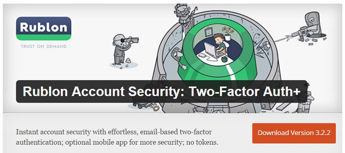 Rublon Account Security: Two-Factor Auth+