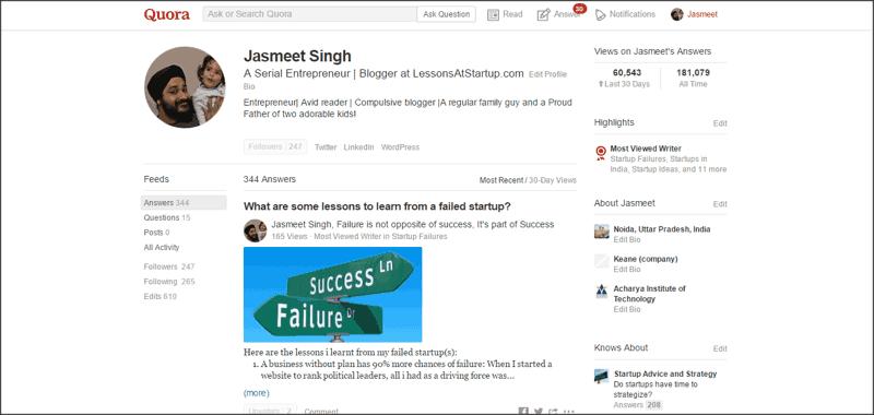 Quora-profile