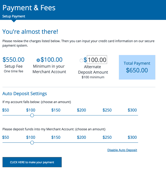 Payment & Fees