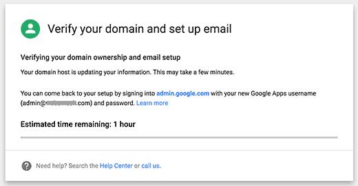 Xác nhận tên miền và cài đặt email