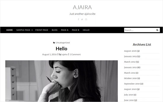 Ajaira-theme