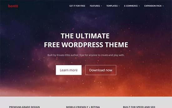 Bento theme wordpress miễn phí