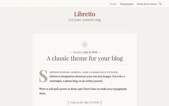 Libretto-theme