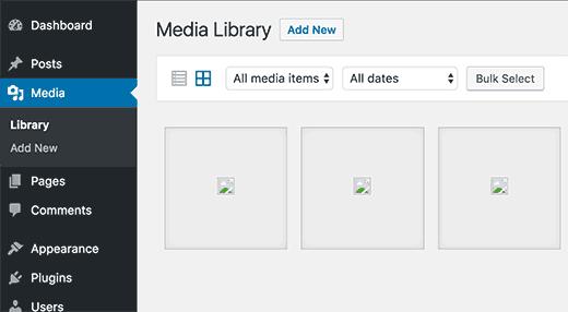 sửa hình ảnh tải lên bị lỗi trong WordPress