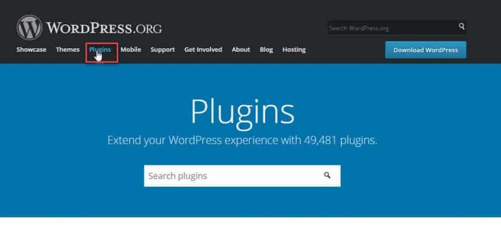 tìm plugin wordpress miễn phí