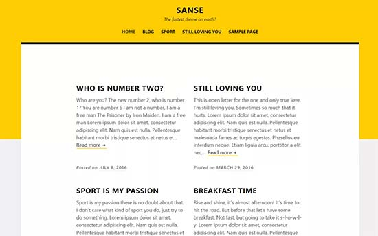 Sanse-theme