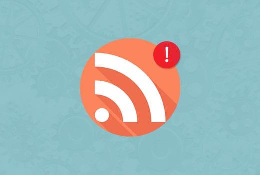 sửa lỗi RSS Feed