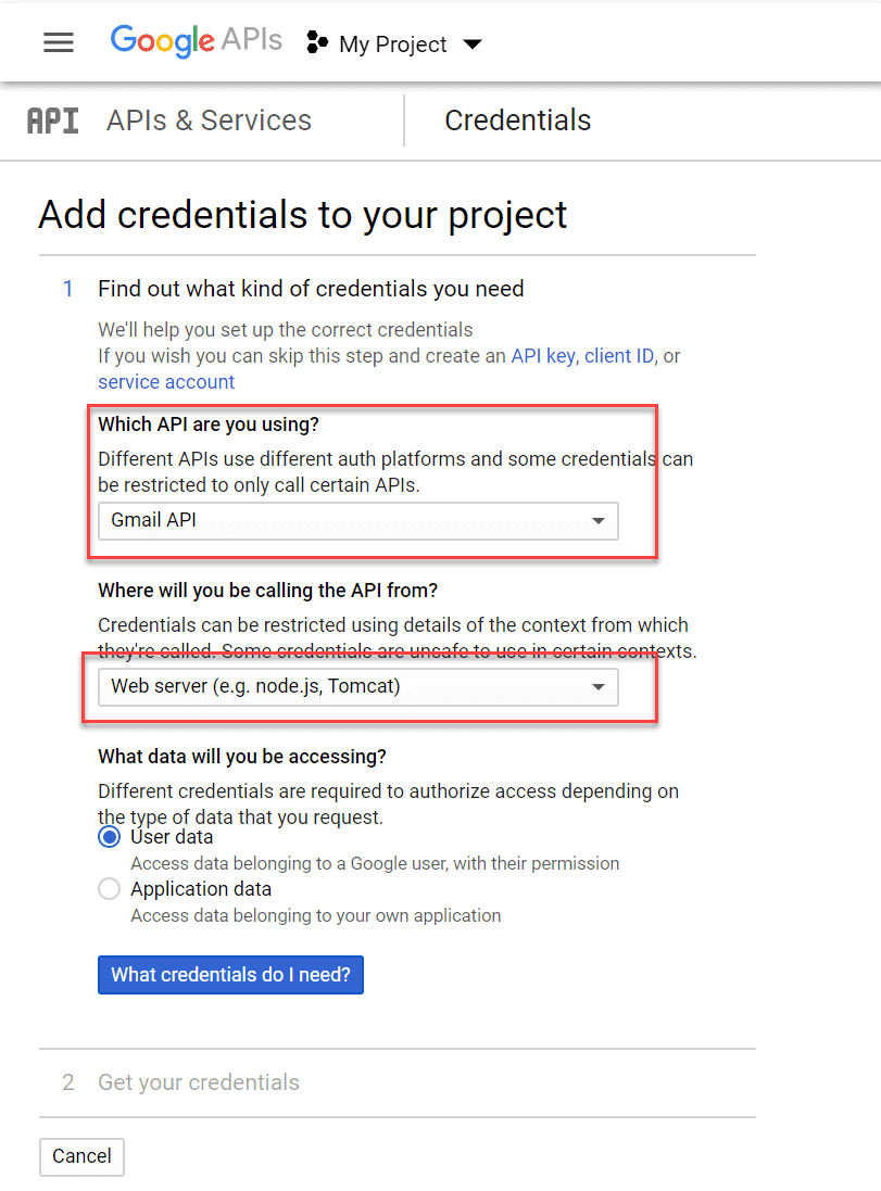 Add-credentials-to-your-project