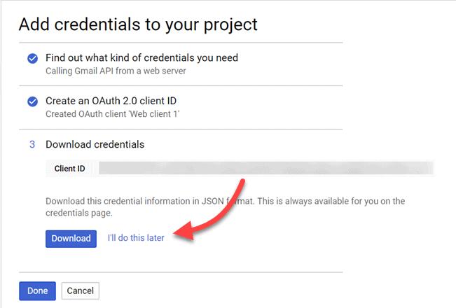 Download-credentials