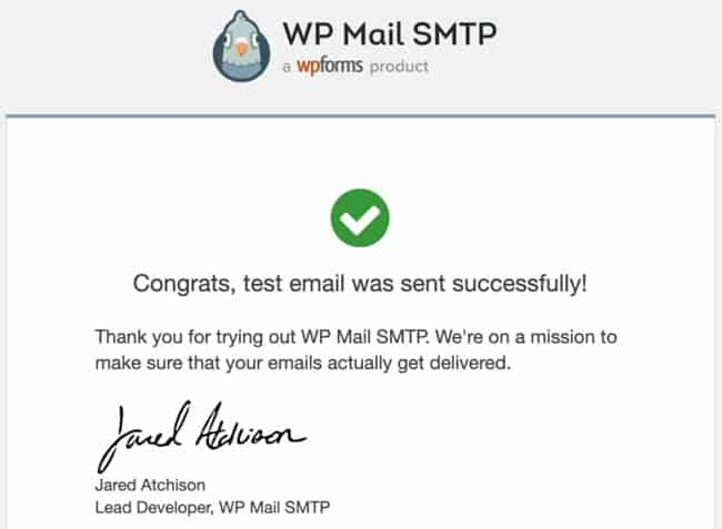 Email-Test-Successfully
