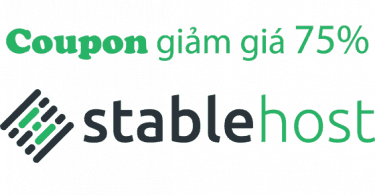 Coupon giảm giá 75% Stable Host