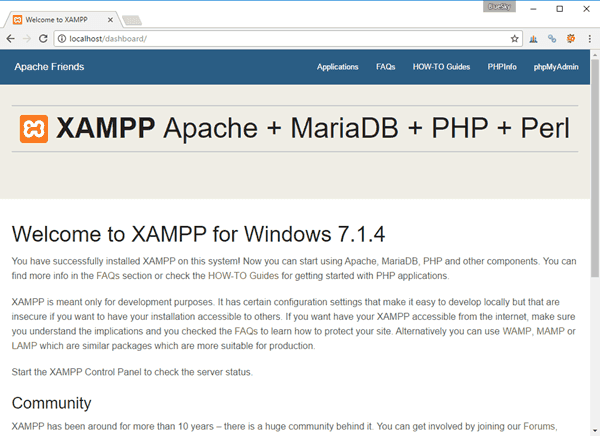 welcome-to-xampp