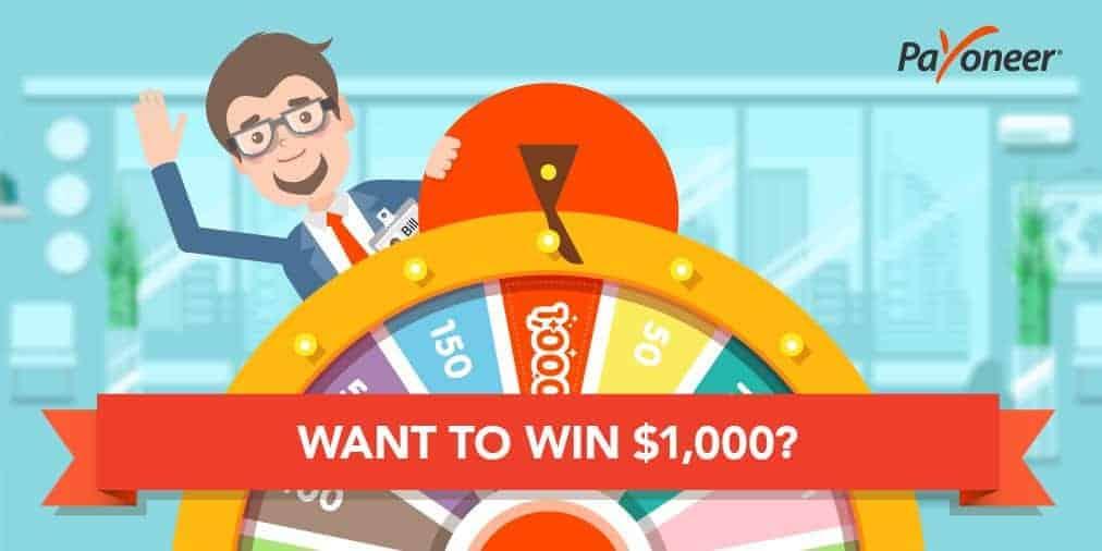 nhận 1000 USD từ payoneer