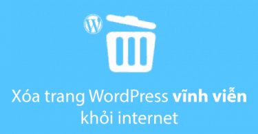 xóa wordpress khỏi internet